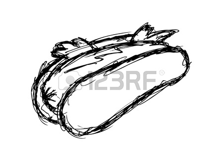 450x325 Hotdog Doodle Royalty Free Cliparts, Vectors, And Stock
