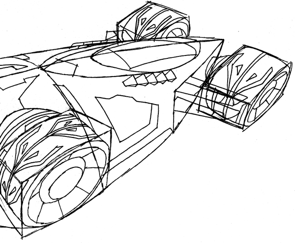 600x495 How To Draw The Saber From Hot Wheels Battle Force 5 With Easy