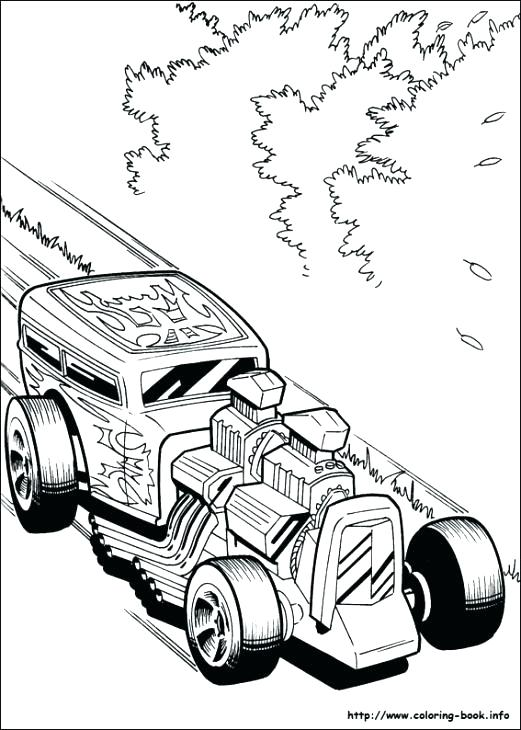 521x730 Free Hot Rod Coloring Pages Stunning Pickup Truck Old