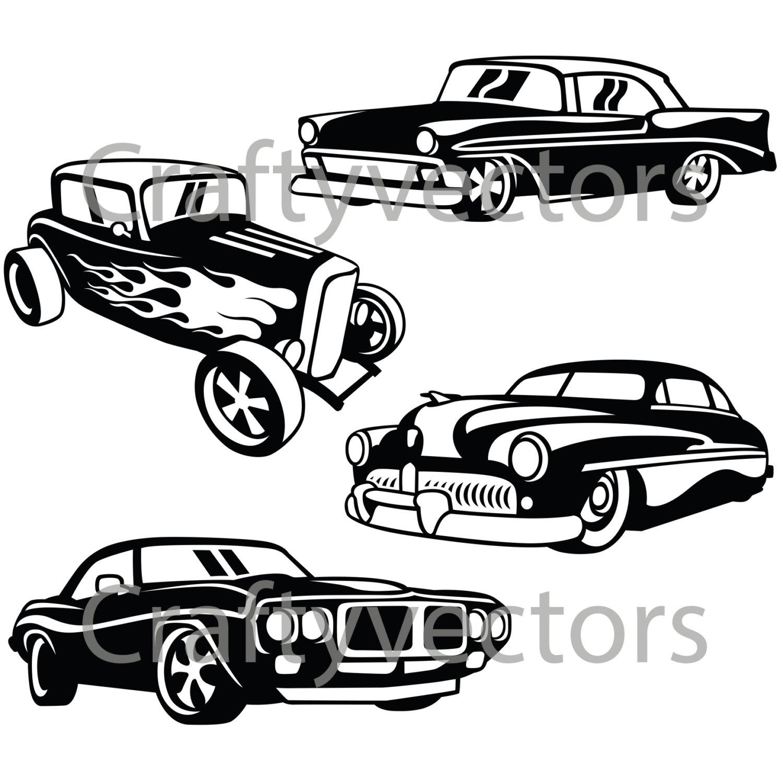 1500x1500 Hot Rod Cars 2 Svg Vector Files