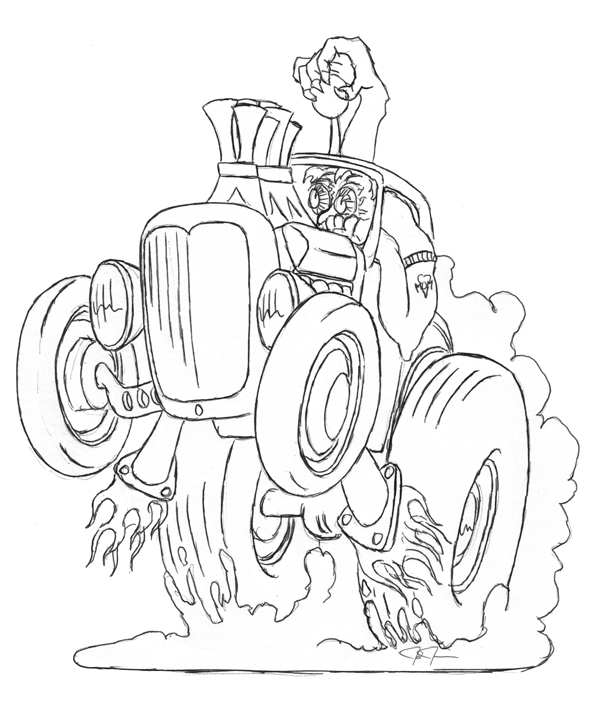 600x713 Hot Rod Coloring Pages Coloring Monster Art