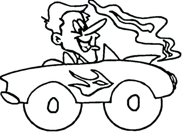 600x437 Hot Rod Coloring Pages Driving Hot Rod Car Coloring Pages Free Hot