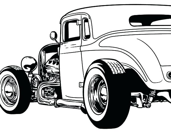 600x476 Minimalist Hot Rod Coloring Pages Crayola Photo Free Rods Truck