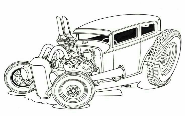 hot rod car drawing at getdrawings com