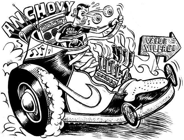 647x492 Zettwoch's Suitcase Hot Rod Drawings