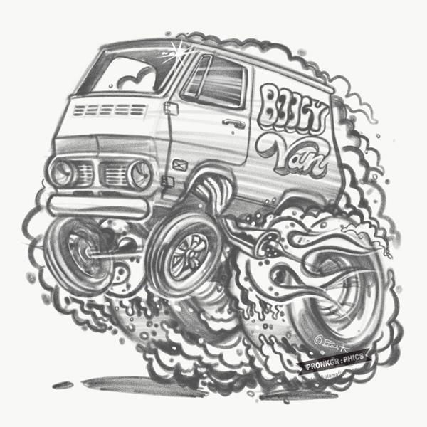 600x600 Cartoon My Vehicle Pronk Graphics