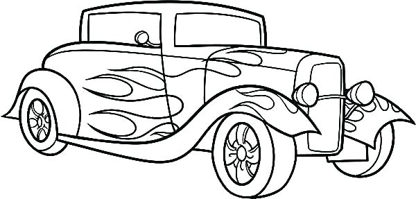 600x287 Classic Car Coloring Pages Educational Coloring Pages