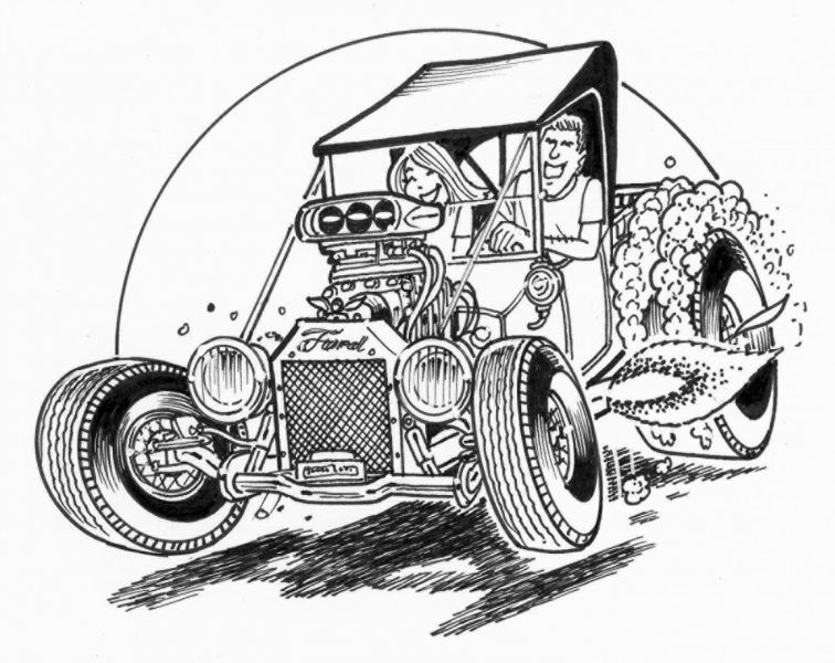 Hot Rod Drawing At Getdrawings Com