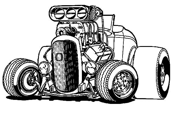 600x403 Hot Rod Drawing Hot Wheels Coloring Pages Ready To Play