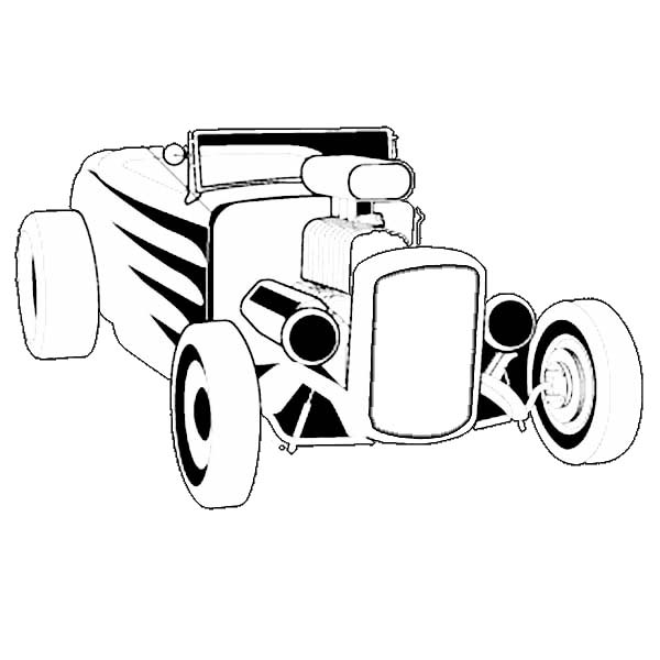 600x600 Hot Rod Coloring Pages For You
