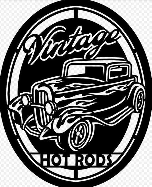 489x600 Vintage Hotrod Garage Sign