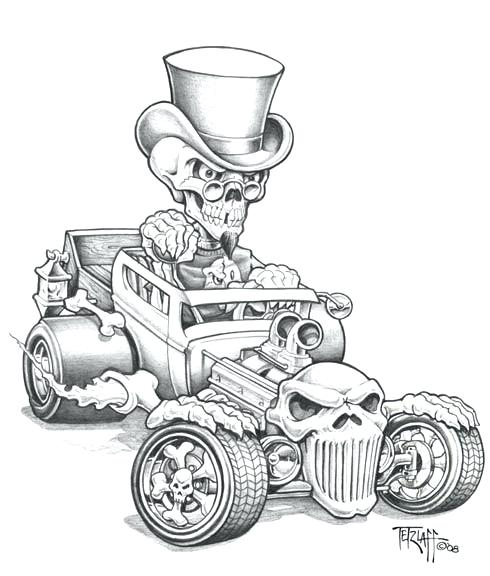 490x576 Coloriages De Hot Rod Pin By On Vehicles Car Drawings And Cars