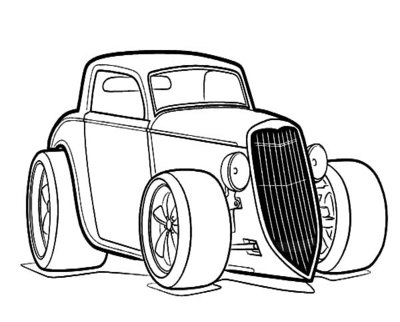 Hot Rods Drawing