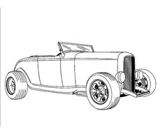 236x192 Hot Rod Kids Coloring Page