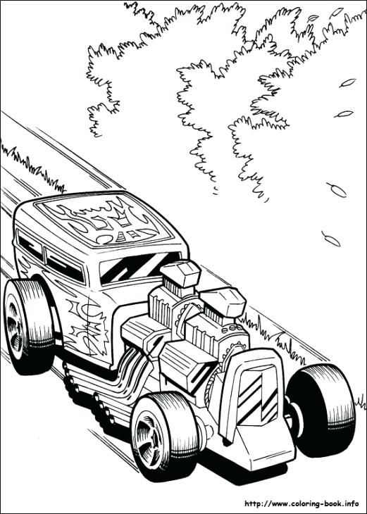 521x730 Hot Wheels Coloring Pages Free A Fast Classic Hot Rod Roadster