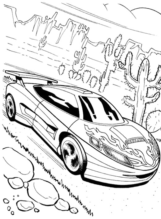 520x709 Good Looking Car Hot Wheels Coloring Page Kids Coloring Pages