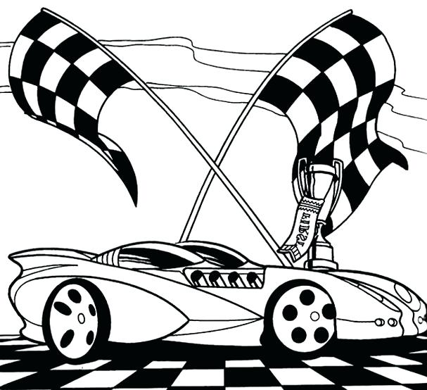 607x554 Hot Wheels Coloring Books Also Printable Hot Wheels Coloring Pages