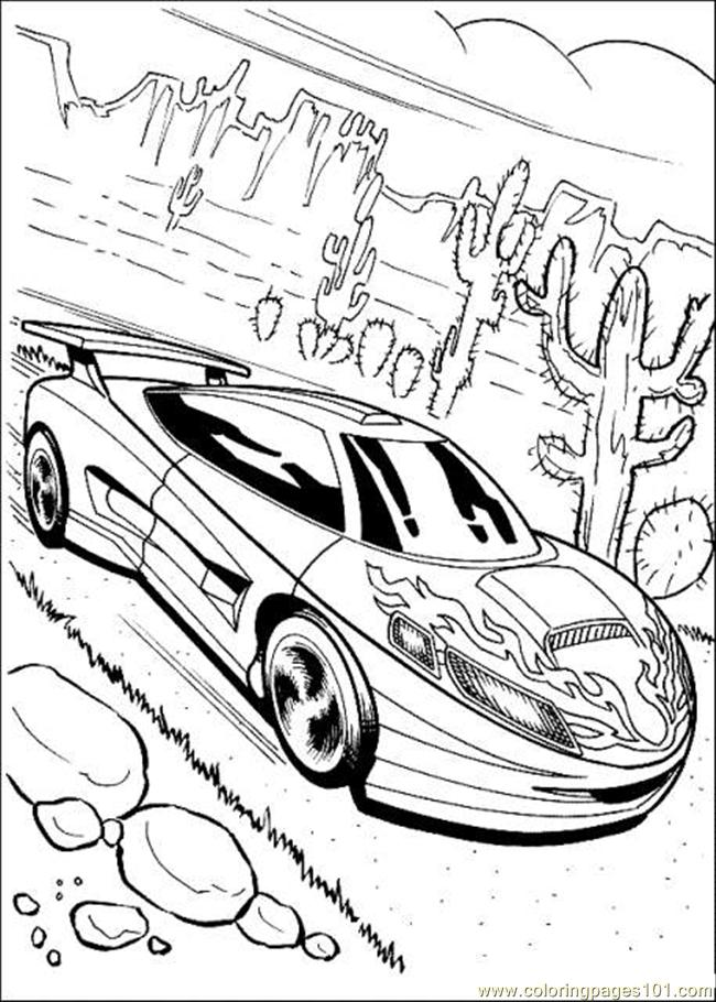 650x910 Hot Wheels Coloring Page