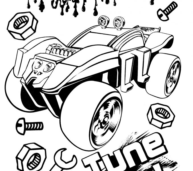 678x600 Hot Wheels Pictures To Print Kids Coloring