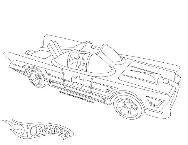 640x495 Wheels 1966 Batmobile Coloring Page