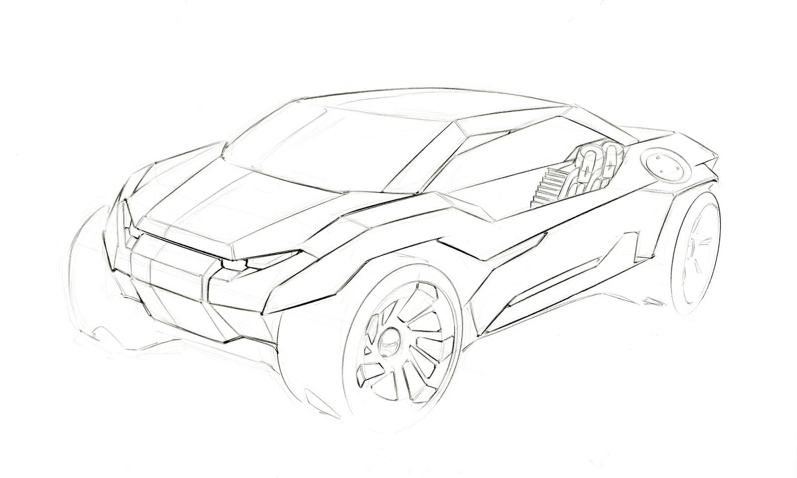1600x960 Yang Sun Hot Wheels Line Drawings