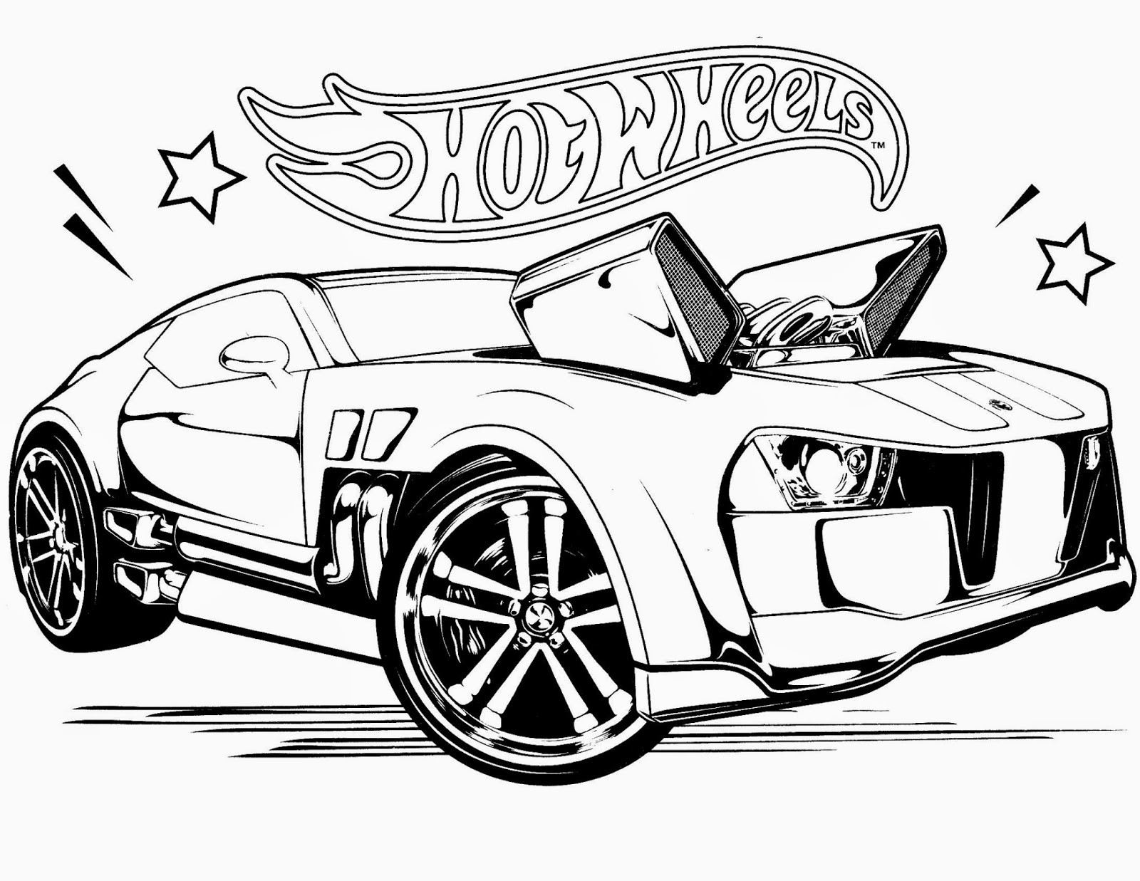 Free Coloring Pages For Boys Sports : Hot wheels drawing at getdrawings free for personal use hot