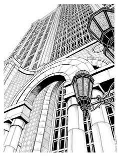 236x311 A Pen Amp Ink Drawing Of Rowes Wharf Arch