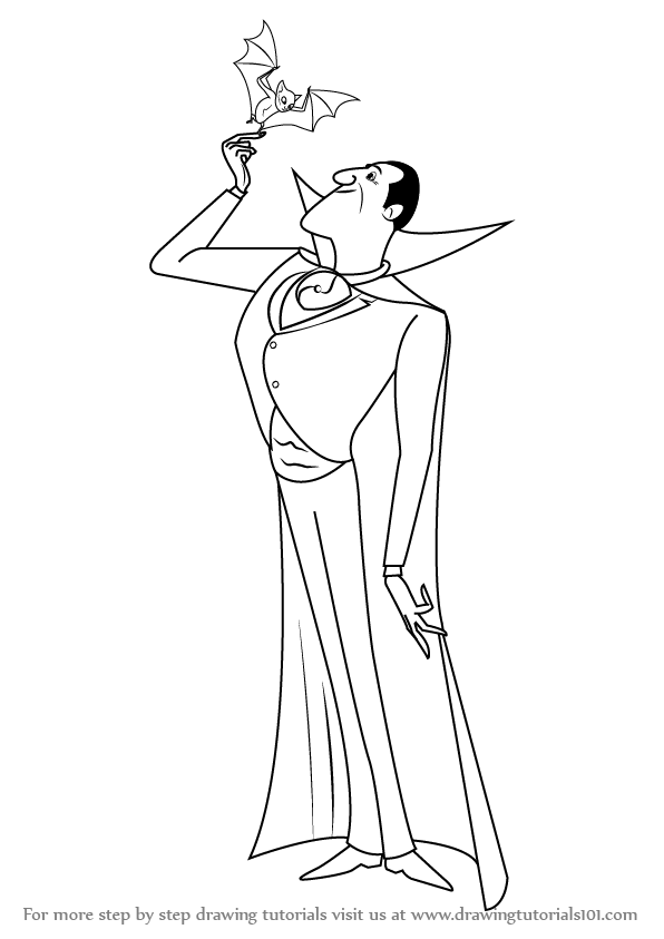 596x843 Learn How To Draw Count Dracula From Hotel Transylvania (Hotel