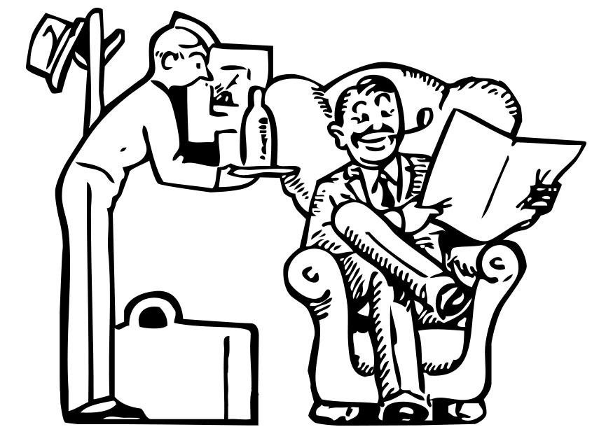 875x620 Coloring Page Hotel Service