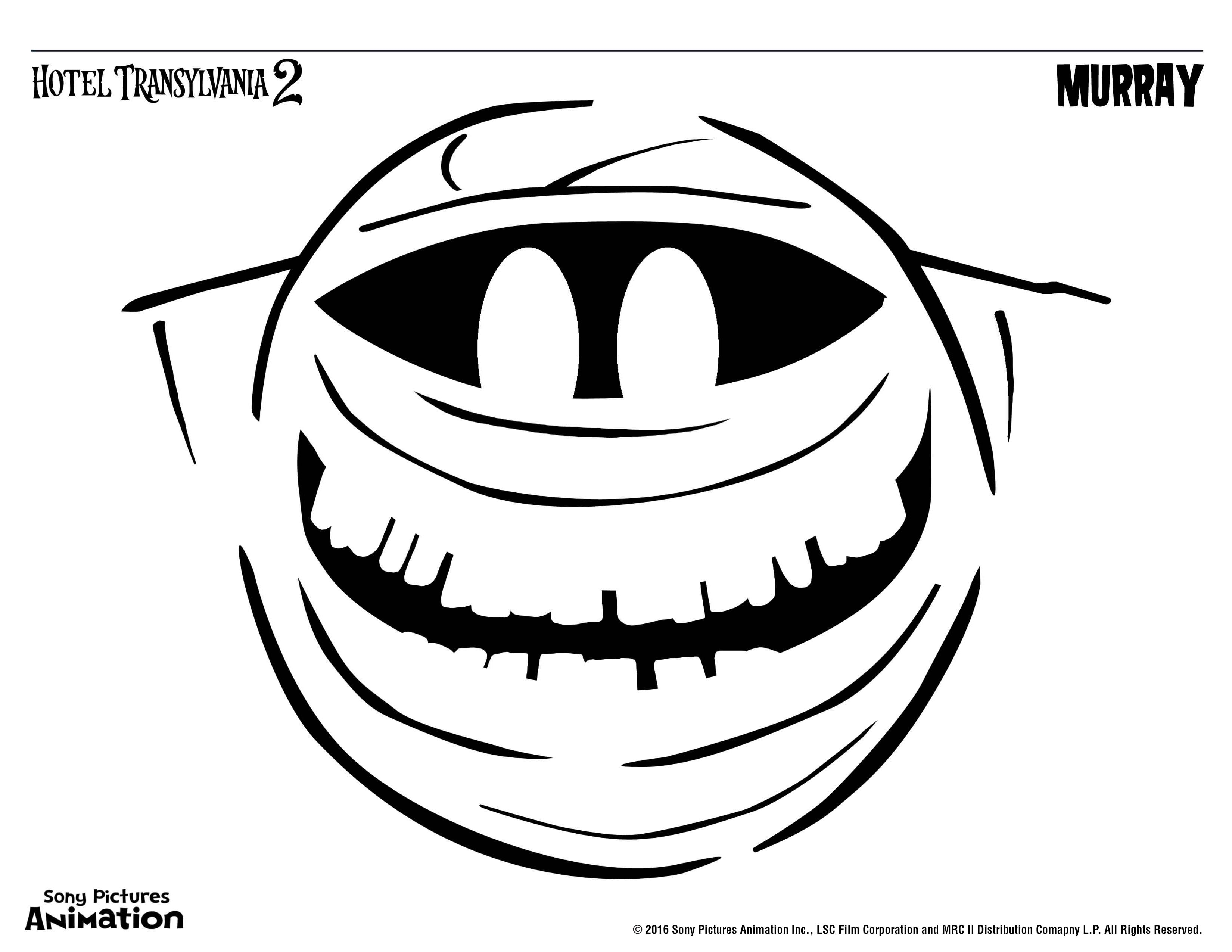 3300x2550 Hotel Transylvania 2 Colouring Pages