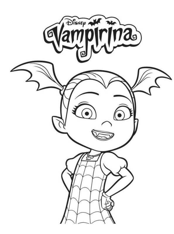 595x800 Kids N 4 Coloring Pages Of Vampirina