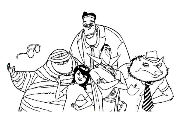 600x411 Hotel Transylvania The Movie Coloring Pages Bulk Color