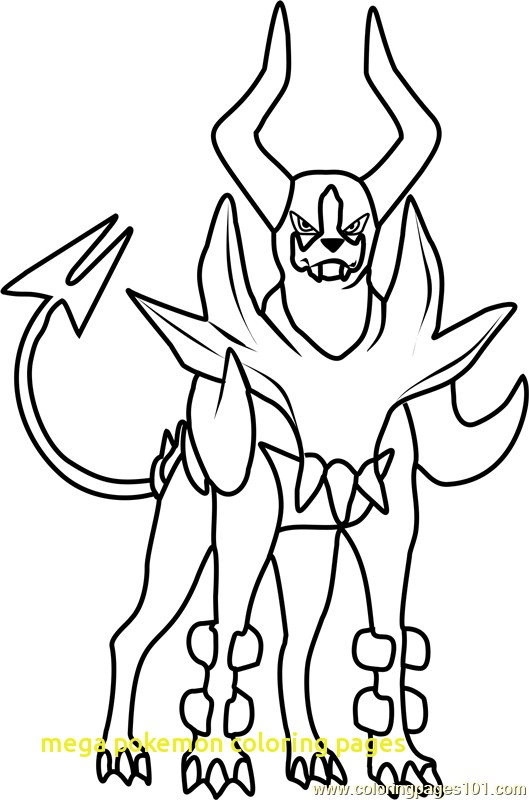 529x800 Mega Pokemon Coloring Pages With Mega Houndoom Pokemon Coloring
