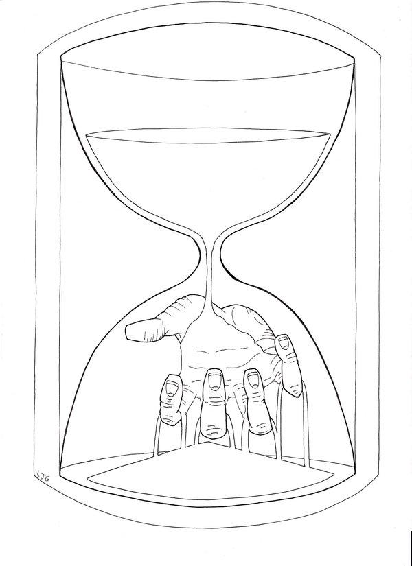 600x825 Hourglass Death By Lukejamesg