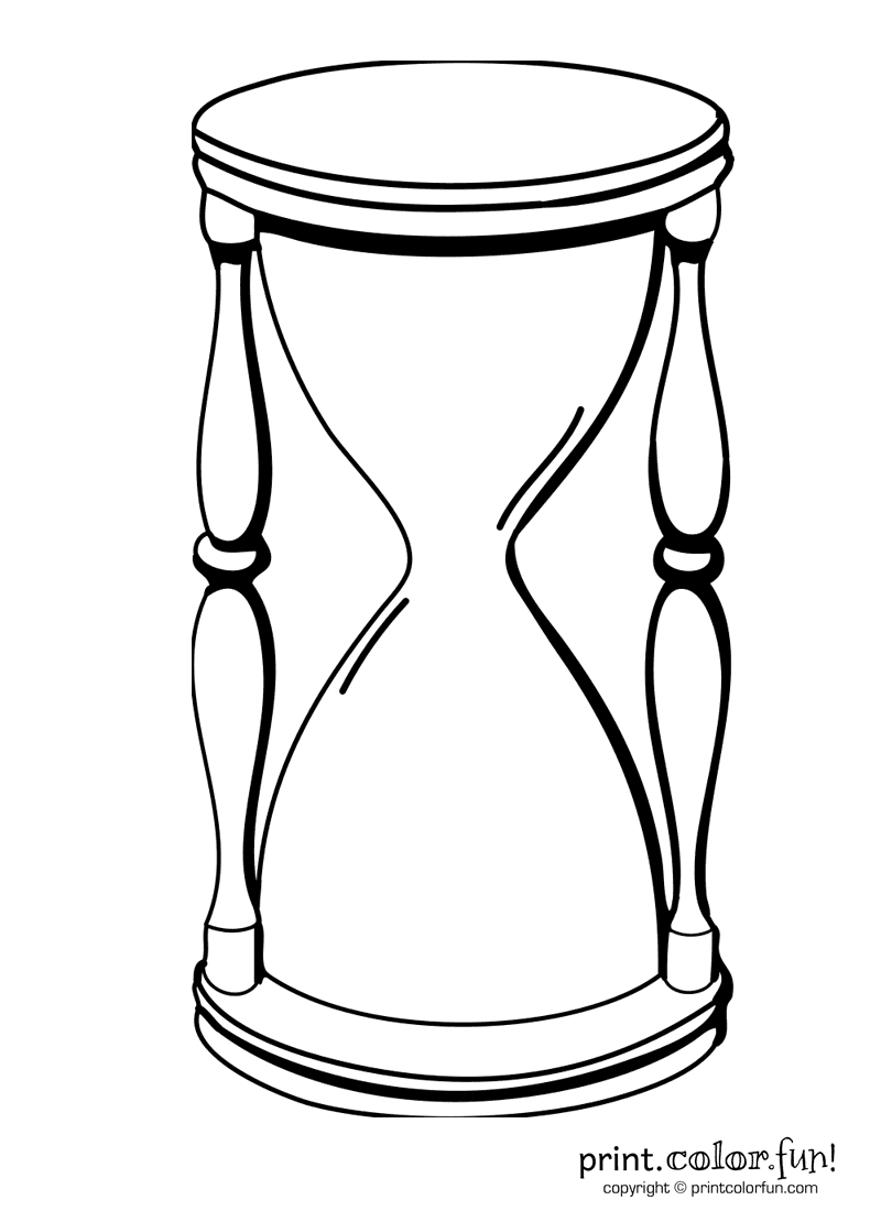 800x1100 Hourglass Coloring Page