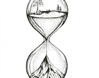 340x270 Hourglass Print Etsy