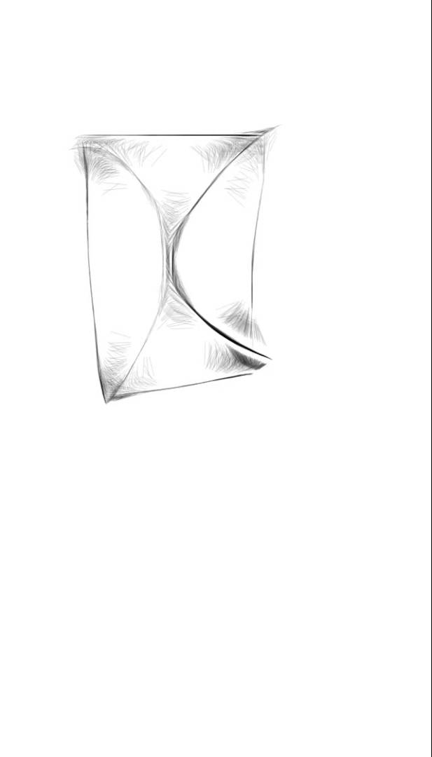 617x1080 Really Quick And Easy Hourglass Drawing