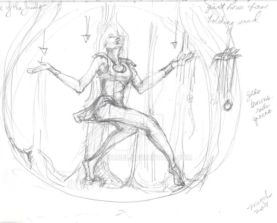 900x723 Sketch Woman In Hourglass By Kizzyanel