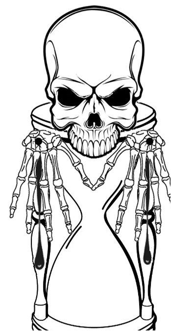 349x673 Skull Hourglass Tattoo By Hagane7
