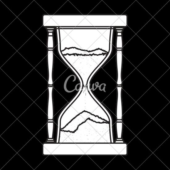 550x550 Hourglass Antique Instrument