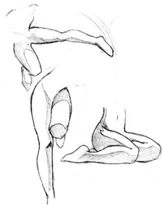 324x415 Female Figure Drawing Butter Cup
