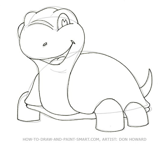 550x477 How To Draw A Turtle