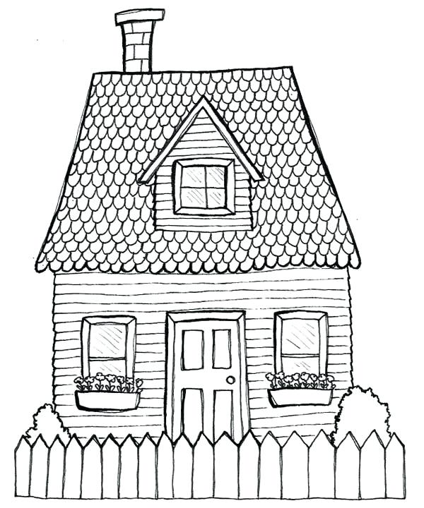 600x720 House Drawing Pics