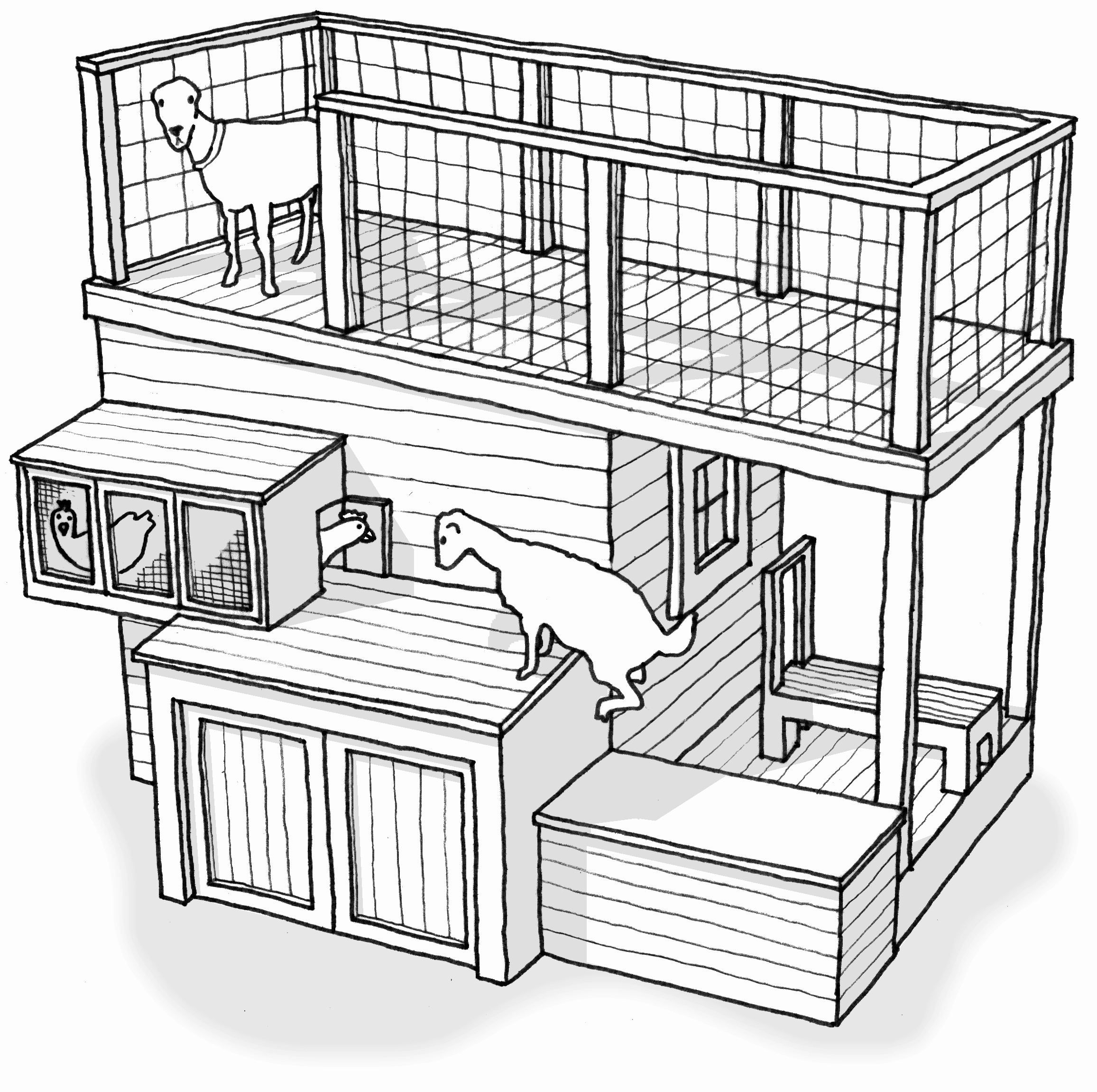 2313x2301 12 New Chicken Coop House Plans
