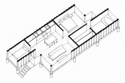 400x264 Container Floor Plan With 2 Containers How To Build A Container