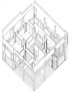 236x308 Drawn Building Axonometric