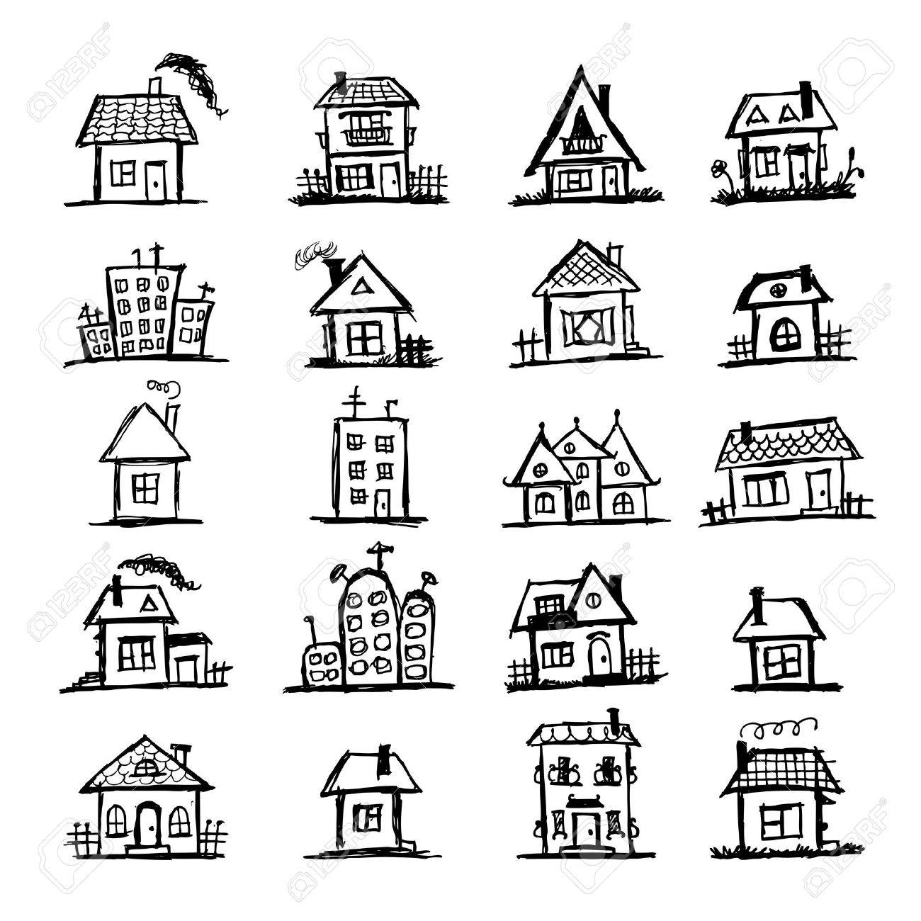 1300x1300 Pictures Cartoon Drawings Of Houses,