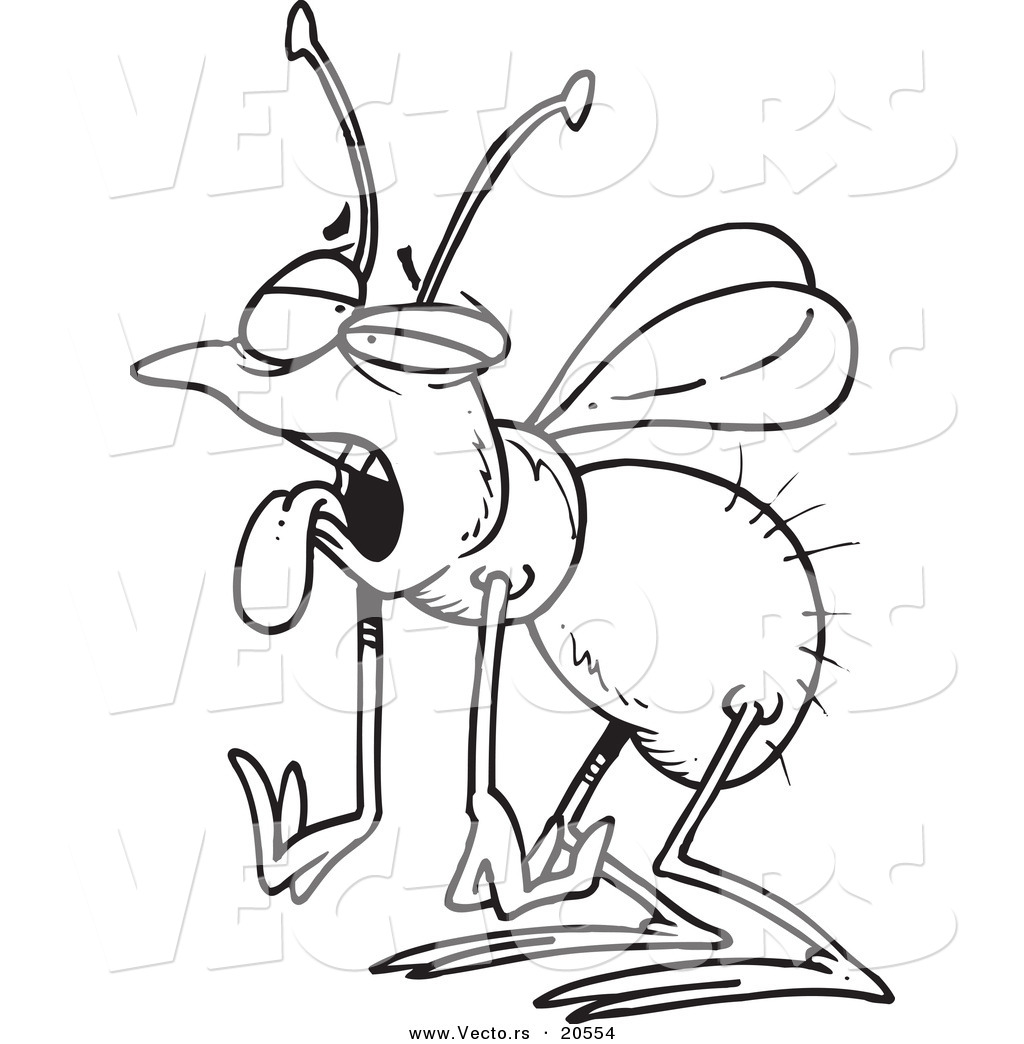 1024x1044 Vector Of A Cartoon Tired House Fly