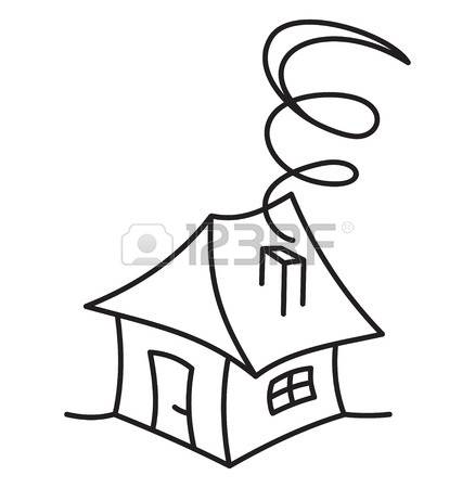438x450 Cartoon Hand Drawing House Royalty Free Cliparts, Vectors,