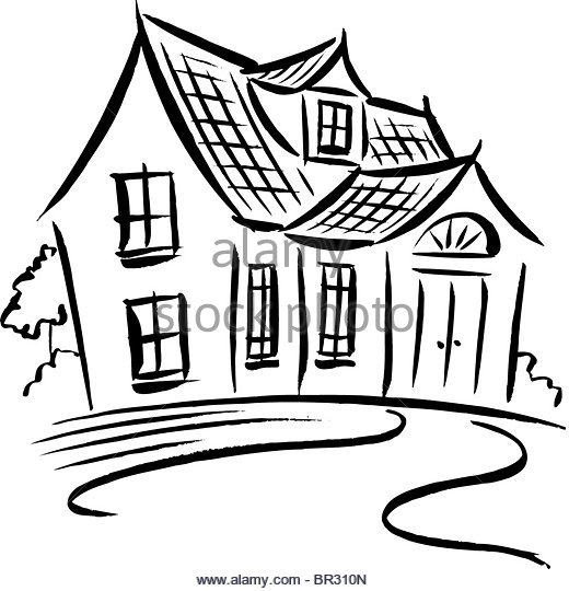 520x540 Cartoon House Black And White Stock Photos Amp Images
